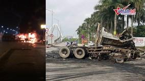 Hai xe container nổ tung trước cổng trường, ít nhất 2 người tử vong