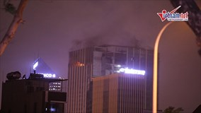 Hà Nội: Cháy cao ốc MB Grand Tower trên đường Lê Văn Lương