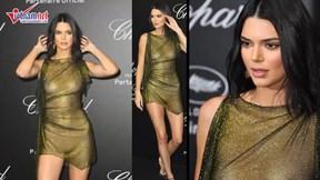 Kendall Jenner gây sốc tại Cannes 2018 với váy xuyên thấu lộ rõ vòng 1