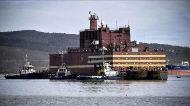 Nhà máy phát điện hạt nhân nổi đầu tiên trên thế giới...