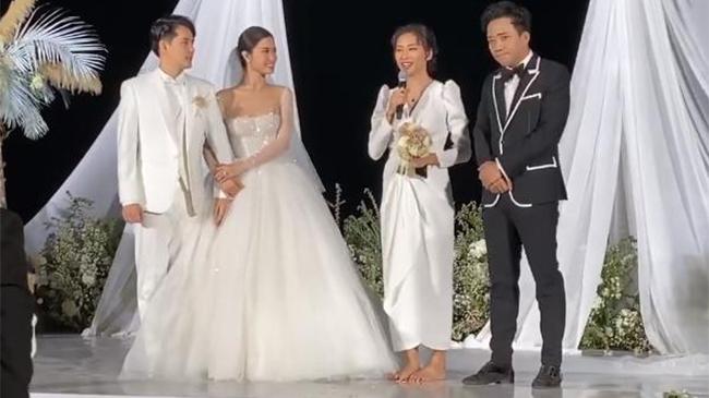 Ngô Thanh Vân bị ép nhận hoa cưới của Đông Nhi và Ông...