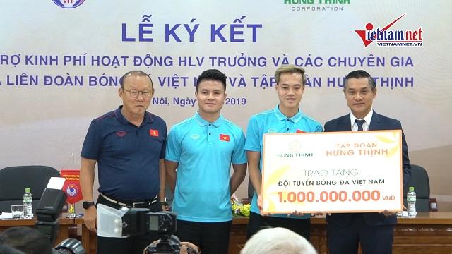 Quang Hải và đội tuyển Việt Nam được thưởng ''nóng'' 1,2 tỷ