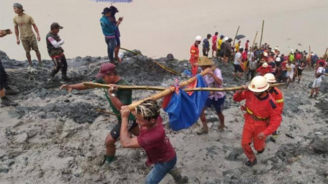 Số người thiệt mạng trong vụ sạt lở đất ở Myanmar tăng...