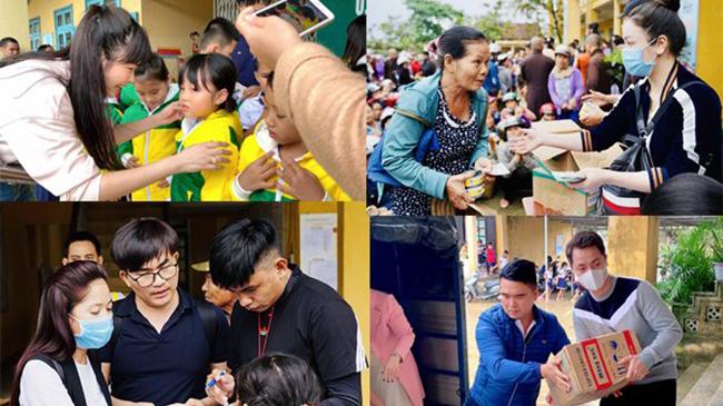 Sao Việt mang hàng tỷ đồng, trực tiếp ra cứu trợ bà...