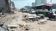 Nguy hiểm rình rập trên con đường nghìn tỷ đang thi công ở Hà Nội