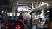 Nam Định: Giàn giáo siêu thị đổ sập chôn vùi 2 người