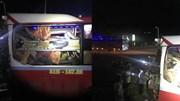 Container tông xe khách giường nằm văng gần 100m ở Đắk Nông