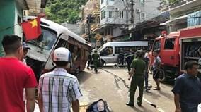 Xe khách mất phanh điên cuồng lao dốc, gây tai nạn liên hoàn ở Cát Bà