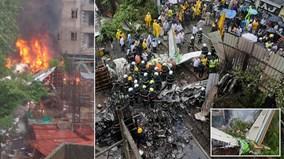 Máy bay lao xuống khu trung tâm ở Mumbai, ít nhất 6 người thiệt mạng