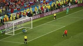 Highlights: Thắng nghẹt thở Tây Ban Nha trên chấm 11m, Nga bay vào tứ kết