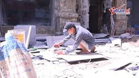 Hà Nội: Người lao động 'phơi mình' trong nắng nóng 45 độ C