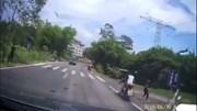 Thanh niên bị tai nạn hai lần sau cú ngã