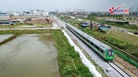Tàu Cát Linh-Hà Đông đóng vào lưới điện quốc gia, bắt đầu chạy thử nghiệm