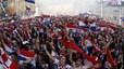 Người dân Croatia xuống đường vẫy cờ ăn mừng hoành tráng sau chung kết