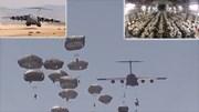 Xem siêu máy bay Mỹ thả cả trăm lính dù đổ bộ mục tiêu