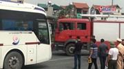 Thực nghiệm hiện trường vụ xe khách đâm trực diện xe cứu hoả trên cao tốc