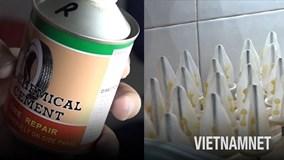 'Đột kích' cơ sở dùng keo dán lốp làm bao cao su ở TP. Hồ Chí Minh
