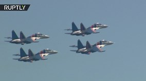 Không quân Nga trình diễn 'siêu đỉnh' mừng vô địch Hội thao quân sự quốc tế