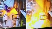 Nhà hàng biến thành quả cầu lửa 'nuốt chửng' người đi bộ