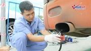 Thanh tra giao thông Hà Nội kiểm tra đột xuất khí thải ô tô