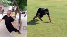 Những màn tập thể dục kỳ lạ: Treo cổ lên cây, đi bộ bằng tứ chi