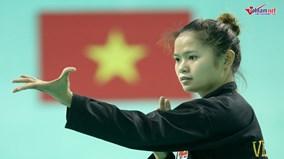 Ngắm các bóng hồng múa võ nhà binh trong 'lò luyện vàng' ASIAD 2018