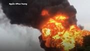 Hà Nội: Cháy xưởng sơn dữ dội, nhiều ngôi nhà bị thiêu rụi