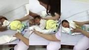 Y tá Việt ru bé ngủ bằng 1 chiếc khăn gây sốt khắp thế giới