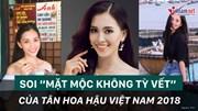 Soi 'nhan sắc không tỳ vết' của Tân Hoa hậu Việt Nam 2018