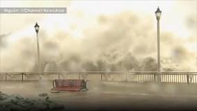 Bão Mangkhut: Sóng cao 4m, dồn dập tấn công như ngày tận thế