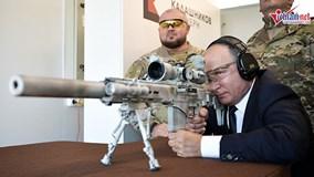 Xem Putin trổ tài thiện xạ với mẫu súng trường bắn tỉa mới