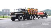 Đoàn xe đưa linh cữu Chủ tịch nước qua các tuyến phố Thủ đô