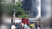 Huế: Cháy xưởng đan, nhiều tiếng nổ và bốc cháy dữ dội