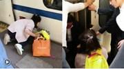 Bé gái rơi xuống khe đường ray tàu hỏa khi người mẹ mải dùng điện thoại