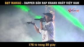 Màn bắn rap nhanh nhất Việt Nam, 170 từ trong 20 giây
