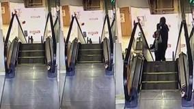 Cậu bé 3 tuổi bị ngã trên thang cuốn và cái kết may mắn