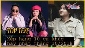 ' Thằng Điên', 'HongKong1' đứng đầu BXH âm nhạc tháng 10/2018