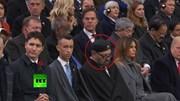 Lãnh đạo thế giới người ngủ gật, người ngáp ngắn dài khi TT Pháp phát biểu