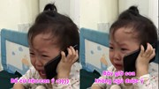 Bé gái 3 tuổi gọi điện cầu cứu ông nội vì bị bố trêu gây sốt mạng xã hội