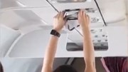 Nữ hành khách thản nhiên hong khô... nội y bằng điều hoà trong máy bay