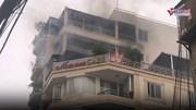 Cháy khách sạn 9 tầng ở phố cổ, khách hoảng loạn trèo ban công thoát thân