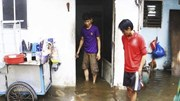 Người dân Sài Gòn ăn mì tôm, vật lộn với nước ngập sau bão