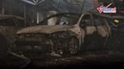 Nhiều ô tô bị thiêu rụi trong vụ hỏa hoạn ở Hà Nội