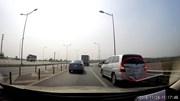 Bất chấp nguy hiểm ô tô 7 chỗ chạy lùi trên cao tốc Hà Nội - Thái Nguyên