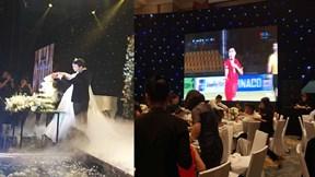 Tiệc cưới Á hậu Thanh Tú: Vừa ăn vừa hò hét cổ vũ Việt Nam hạ Philippines