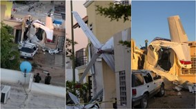 Máy bay lao thẳng xuống nhà dân ở Mexico, ít nhất 4 người thiệt mạng