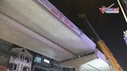 Lắp xong dầm khủng 150 tấn, đường sắt Nhổn - Ga HN hợp long tuyến trên cao