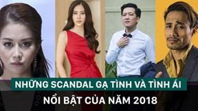 Nhìn lại những scandal tình ái đình đám năm 2018