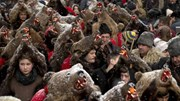 Lễ diễu hành kỳ lạ đón năm mới ở Romania