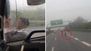 Người đàn ông chặn xe trên cao tốc khiến tài xế hết hồn